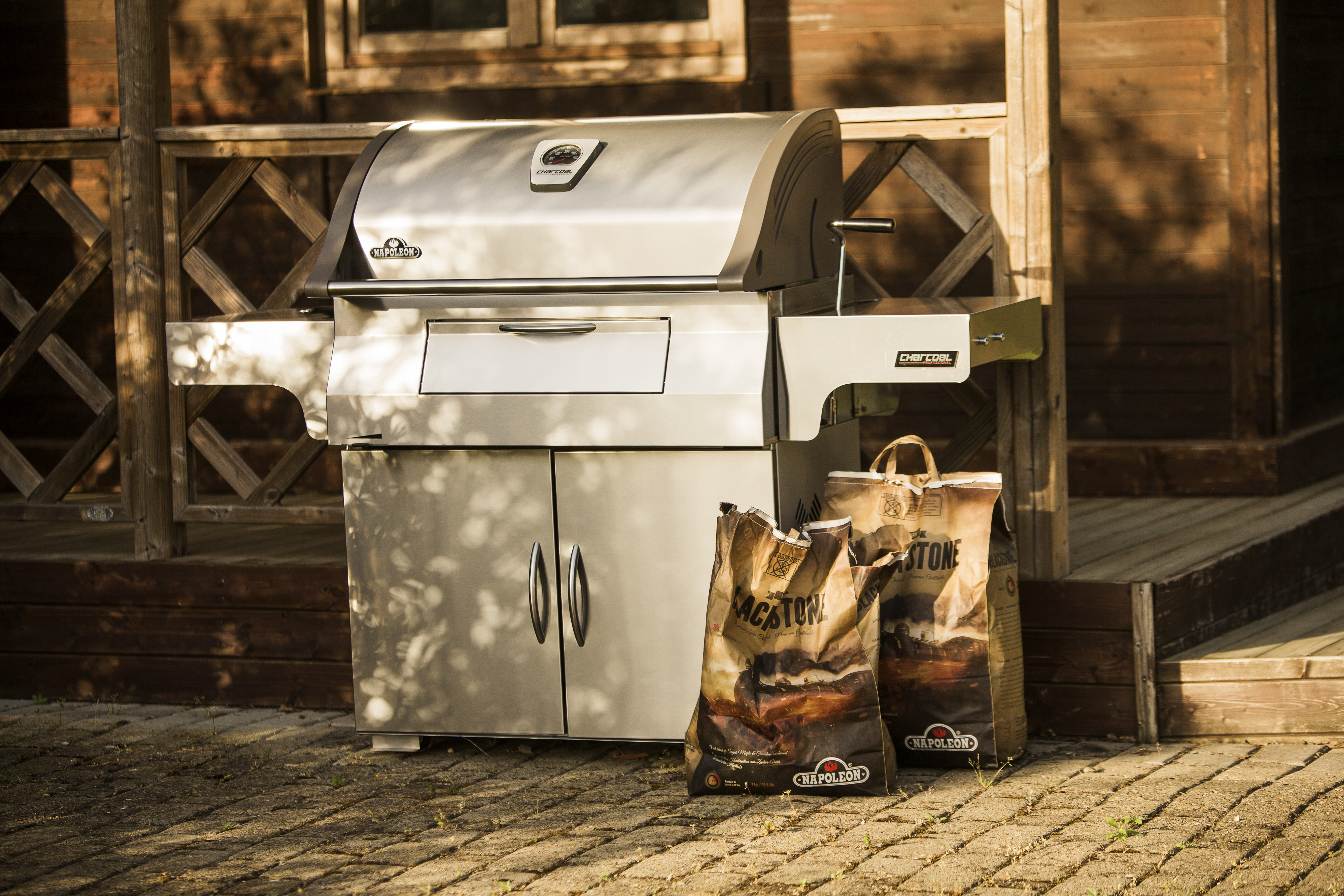 Napoleon Charcoal Professional Edelstahl Holzkohlegrill Pro605css : Bbq profi napoleon mirage m605rbcss eds
